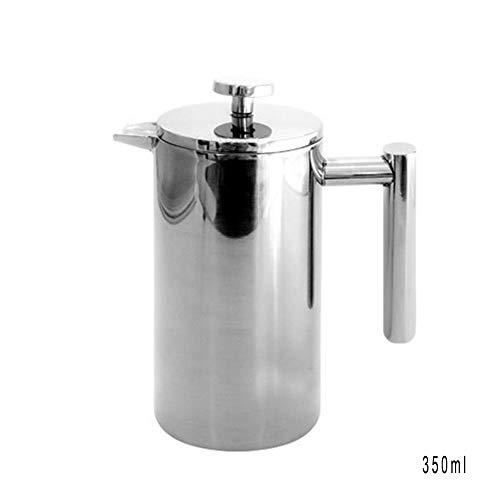 CAheadY Edelstahl French Press Kaffee Teezubereiter Doppelwandiger Topf mit Filter Geschenk 350ml