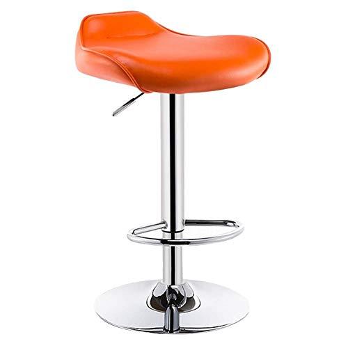 Taburete De Bar Counter BarStools Bar Taburete Diseño ergonómico Multifunción Metal Marco Asiento de algodón ROPATEBLE Lote Lote A Prueba de Agua(Color:Negro,Tamaño:a) (Color : Orange, Size : B)