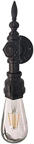 Lámpara de Pared de Moda Luz de Pared Vintage Negra con Interruptor de Encendido/Apagado Lámpara de Pared de Tubo de Agua Loft Industrial Hierro labrado de Hierro rústico Corredor de Pared Scocne Il