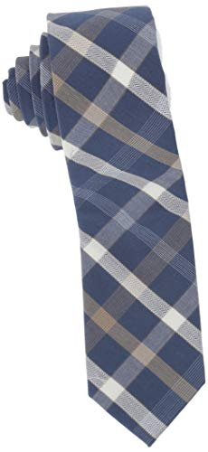 Original Penguin Men's Ferrell Plaid & Check Ties, Taupe, One Size