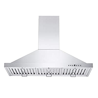 ZLINE 48 in. Wall Mount Range Hood in Stainless Steel with Crown Molding (KBCRN-48)