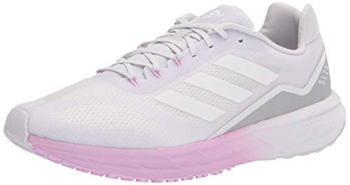 adidas Women's SL20 Running Shoe, Dark Grey/White/Lilac, 6.5