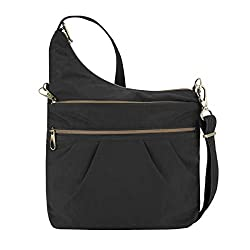 4015991b56 This bag is sling-style on one side which increases the depth slightly. It  has two zipped pockets on the front as well as the main compartment (2 of  the 3 ...