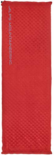 ALPS Mountaineering Apex Self-Inflating Air Pad, Regular, Red (7150005)