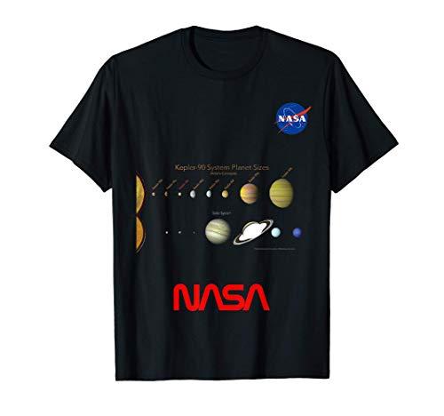 NASA Kepler-90 Rispetto Al Nostro Sistema Solare Il Sistema Maglietta
