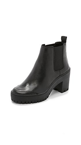 DKNY Women's Silone Lug Sole Booties, Black, 9.5 B(M) US