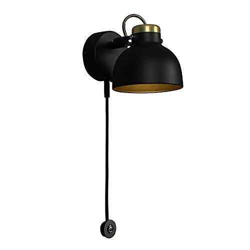 MYALQ Moderna Lámpara de Pared LED, Lámpara de Lectura de Metal Para Interiores, Interruptor Táctil, Ángulo de Cabeza de Lámpara Ajustable, Aplique de Pared para Sala De Estar, Dormitorio, Estudio