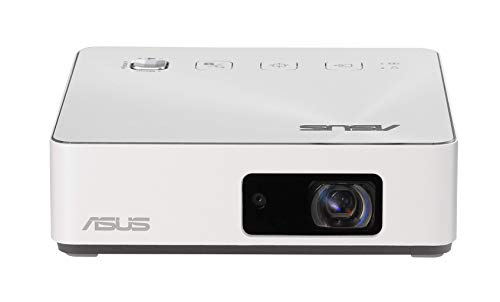 ASUS S2 White Pico Proyector Mini LED Portátil HD Blanco - 500 lúmenes - HDMI & USB-C - Batería integrada...