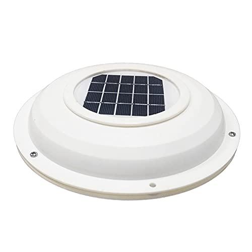 HDDFG. Ventilatore ad energia Solare Ventilatore di sfiato Ventilatore di Ventilazione Ventilatore di Scarico per Barca RV Home roulotte estrattore d Aria per Serra turck (Color : White)