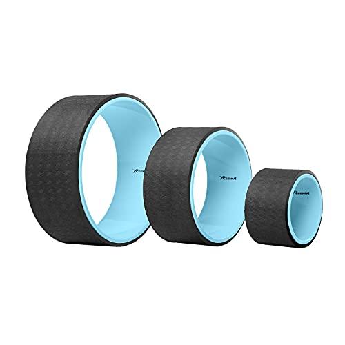 REEHUT Rueda de Yoga para la Dharma 32cm×13cm Yoga Wheel, Mejorar la Flexibilidad y Resistencia y Aliviar el Dolor y Estrés en su Espalda y Hombros de