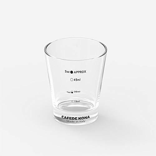 Tings Espresso ounce beker pyro glazen maatbeker met markering made in ItalyVerdikt glas maat espresso gereedschap, een stuk, 60ml