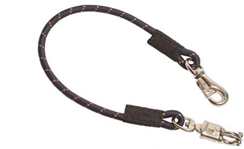 Elastische stropdas 90 cm met paniekhaak en stier snap voor paardentrailer 1 stuk, doos, stabiel, trailer stropdas