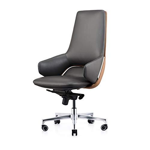 Gaming-Stühle Home Büro Schreibtischstühle Bürostühle mit Lordosenstütze Bürostühle & Sofas Leder-Boss-Stuhl, Execution Chair, Modebürostuhl, leichter Präsident Drehstuhl, Computerstuhl for Unternehme