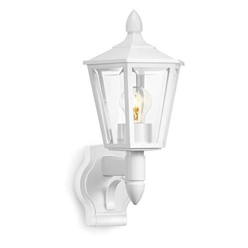 Steinel Außenleuchte L 15 weiß, klassische Außenwandleuchte, Laterne, max. 60 W, E27, Außenlampe ohne Bewegungsmelder