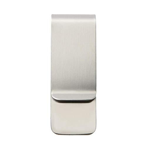Demiawaking Fermasoldi Uomo Porta Soldi Clip in Acciaio Inossidabile Clip Portafoglio per Tasca Borsa (Argento)