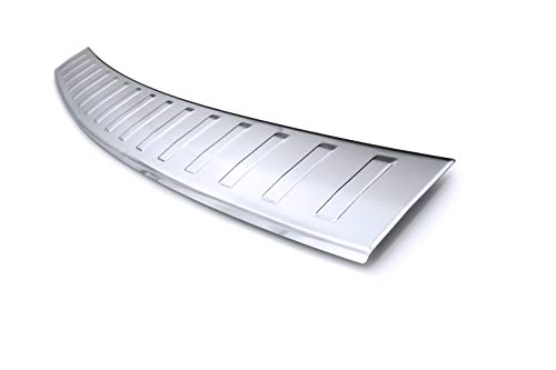 tuning-art BL939 Ladekantenschutz mit Abkantung Modellspezifisch, Farbe:Silber