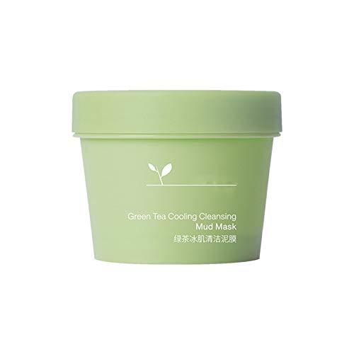 Grüner Tee Kühlende Reinigungsschlammmaske , Matcha Grüntee Gesichtsentgiftungsschlammmaske, Tief pflegende feuchtigkeitsspendende Anti-Falten-Anti-Aging-Gesichtsmaske