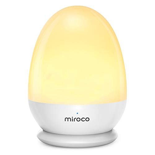 Miroco Night Lights for Kids, LED Bedside Lamp for Baby Breastfeeding 100% Toddler Safe, Touch Lamp with USB and Stable Charging Pad, Dim Nursery Lamp Warm Night Light, Soft Eye Caring, Timer Setting