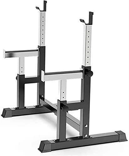 Soporte para levantamiento de pesas con barra para sentadillas, equipo de gimnasio en casa, máquinas portátiles de entrenamiento físico, entrenamientos para construcción de ejercicio en interiores