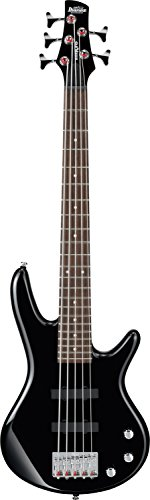 Ibanez 5 String Bass Guitar, Right, Black (GSRM25BK)