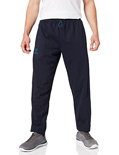 Hummel Unisex-Adult hmlACTION Cotton Pants Sweatpants, Dark Sapphire/Blue Coral, M