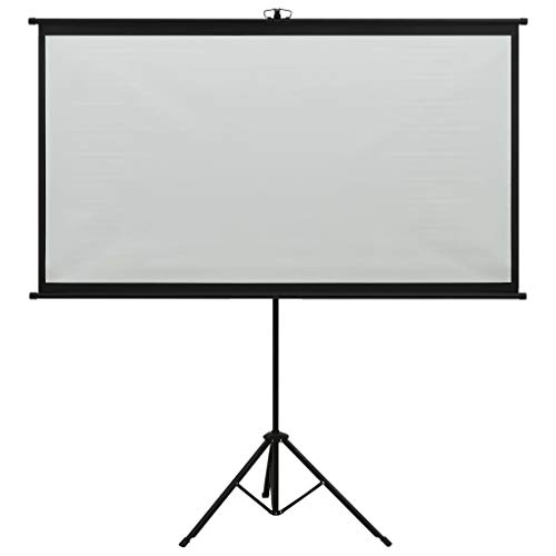 """vidaXL Schermo di Proiezione Telo di Proiezione Telone per Film e Diapositive Accessori per Proiettori Display con Treppiedi 100"""" 4:3"""