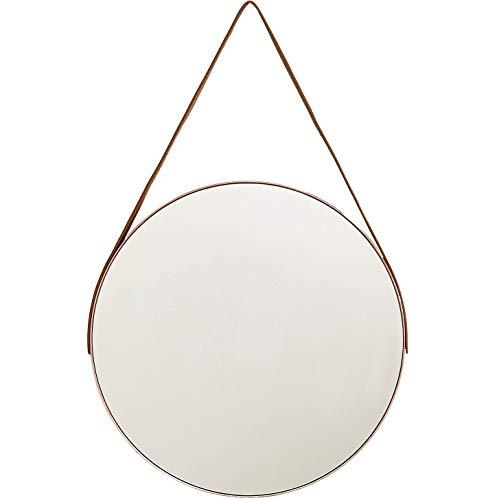 Espelho Redondo Adnet Grande 45cm Decorativo c/Alça Suporte