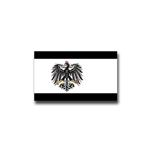 Aufkleber/Sticker preußische Fahne Ostsee Pommern Polen Litauen 12x7cm A955
