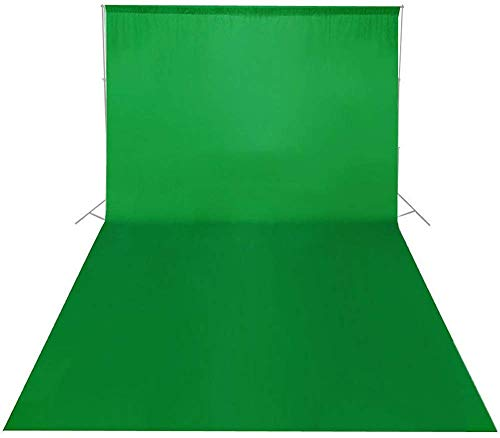 5.2ftx10ft 1.6x3M Green Screen Chroma Key Background Backdrop Cloth for Studio Photo Background Lighting Kit Video Party Wedding