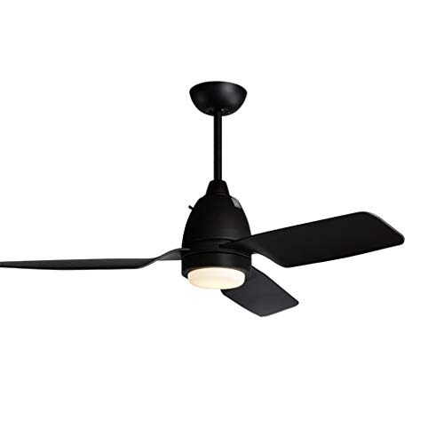 Luz del ventilador Ventilador de Techo 112cm lámpara de Techo Ventilador lámpara de Techo Restaurante del hogar LED15w lámpara de Madera con Ventilador de Hoja