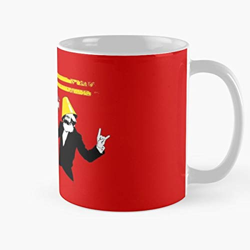 5TheWay Red Partying Funny Communist Communists Russian Party Parties Taza de café con Leche 11 oz