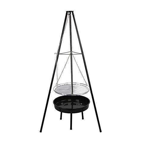 Outdoor Cooking Charcoal Grill, Tripod Camping Barbecue Charcoal Stove Bonfire Barbecue for Picnic, Camping, Patio Backyard WTZ012