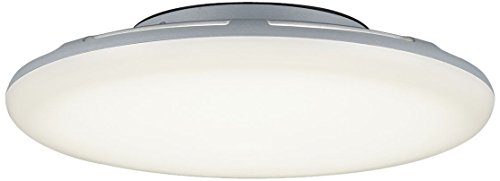 Trio Leuchten LED-Aussen-Deckenleuchte Bering Aluminiumguss, titanfarbig, Acryl weiß 620261887