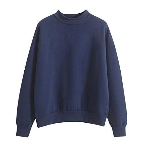 haoricu Pullover for Women Top Long Sleeve Sweatshirt Printed Lady Teen Girl Shirt Jumper Pullover Tops Blouse Navy
