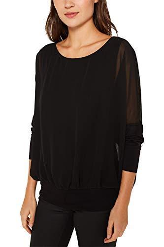 ESPRIT Damen 119EE1F019 Bluse, Schwarz (Black 001), (Herstellergröße: XX-Large)