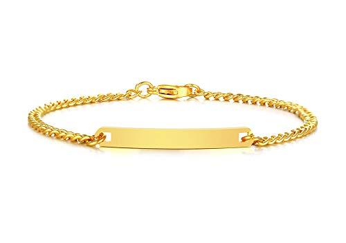 VNOX Customizable Bracelets for Women Link Bracelets Personalized Engraved Couple Bracelets BFF Brother Sisters Bracelets Family Bracelets