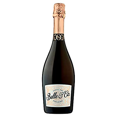 Belle & Co Sparkling Rose Alcohol Free Wine, Non-Alcoholic, Gifts for New Mums, Ideal for Celebrations and Festive Parties for Non Drinkers and Drivers, Low Calorie 75 cl