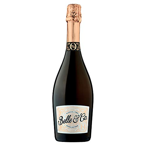 Belle & Co Sparkling Rose Alcohol Free Wine, Non-Alcoholic, Gifts for New...