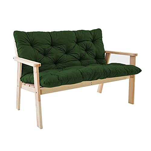Comodo cuscino da panca con schienale alto, resistente all'acqua, per dondolo in metallo, 2 cuscini per esterni e patio, antiscivolo