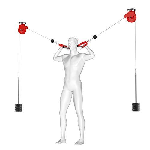 K-Sport: 2 Kabelzüge zur Deckenmontage I Fitness-Seilzug für effektiven Muskelaufbau l Kabelzugstation zum Trainieren Aller Muskeln l Professionelle Fitnessgeräte für Zuhause