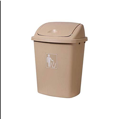 JiangKui Reciclaje de Basura Cubo de Basura Al Aire Libre con Gran Capacidad Cubo de Basura de Cocina Cubo de Basura de Aula Hogar Cubo de Basura de CocinaAmarillo, 40L