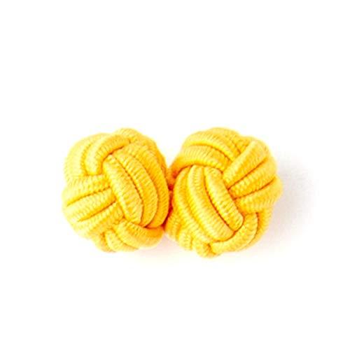 Manschettenknöpfe Multicolor handgemachte elastische Doppelseilkugel Manschettenknöpfe Knopf für Männer Hemd Kleidung Buttons, S4, eine Größe