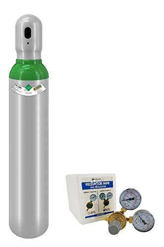 Botella de gas de 8 litros rellena con argón 4.8 150 bar (pureza 99,998%) 10 años de legalización de gas soldado TIG + regulador de presión