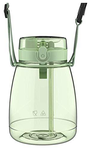 Botella de agua con paja y tapa, botella portátil a prueba de fugas para fitness, gimnasio, camping, deportes al aire libre, juego de 2 Jsmhh (color verde)