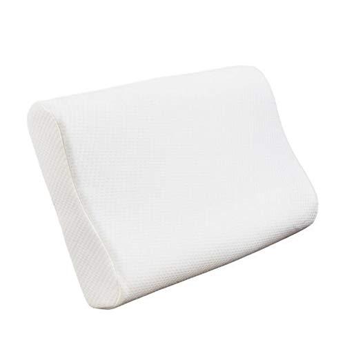 Yi-xir Suave y duradera almohada de algodón con memoria de partículas de gel de 23 x 15,7 x 3,9/4,7 pulgadas, ligera y elegante.