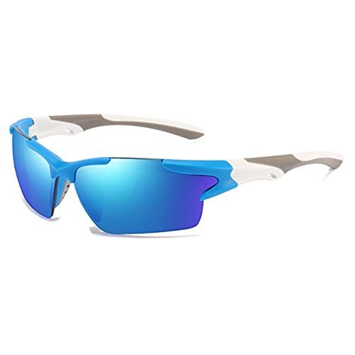 JYTSSH Hombres espejo gafas de sol rojas Marco negro Gafas deportivas Mujeres ciclismo UV400 Unisex Bicicleta Montar Gafas de sol