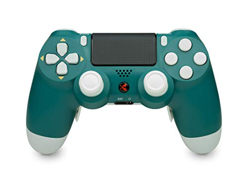 KING CONTROLLER® PS4 Controller mit Curved Paddles Custom Design (Türkis) - DualShock 4 - PlayStation 4 Pro Slim - Wireless PS4-Controller