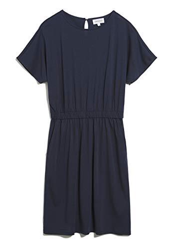 ARMEDANGELS TADINAA - Damen Kleid aus Tencel™ Lyocell Mix M Night Sky Dresses Jersey, Kleider Jersey Rundhals Loose fit