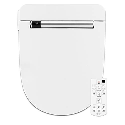 VOVO VB4100SR Electronic Bidet Toilet Seat,Round,White,LED Nightlight,Deodorization,Eco Power Save,Self Cleaning Full Stainless Nozzle,Heated Seat,Warm Dry and Water,Made in Korea