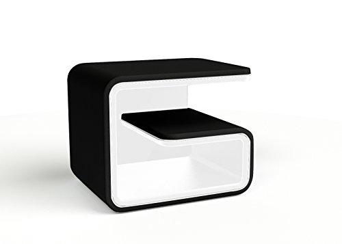 SAM Nachtkonsole 99 rechts in schwarz/weiß auch in Links erhältlich und mit Allen Betten im Shop kombinierbar